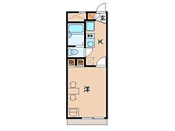 レオパレス和歌川[2階]の間取り