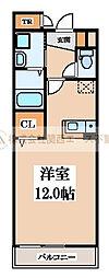 大阪府堺市北区百舌鳥西之町3丁の賃貸マンションの間取り