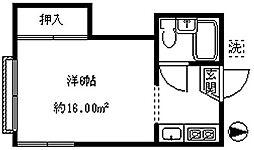 東京都文京区目白台3丁目の賃貸アパートの間取り