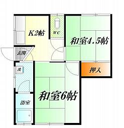 三堀荘[2階]の間取り