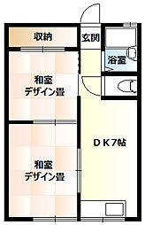 ふじ荘[301号室]の間取り