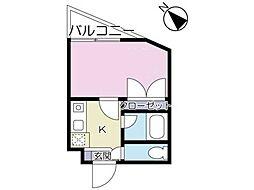 アザレア恋ヶ窪[3階]の間取り