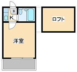 東京都江東区東砂5丁目の賃貸アパートの間取り