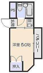 山崎第8マンション[3階]の間取り
