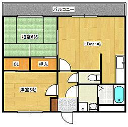 広島県広島市南区向洋新町3丁目の賃貸マンションの間取り