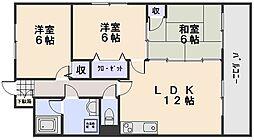プリメゾン相田[5階]の間取り