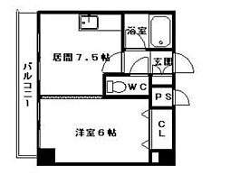コスモス東札幌[00601号室]の間取り