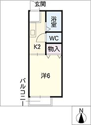 あかねハウス[2階]の間取り