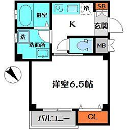 Mastery Court Moriguchi 2階1Kの間取り