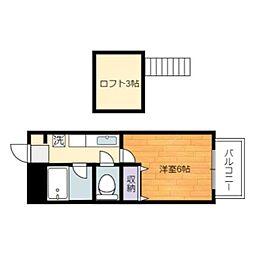 静岡県静岡市葵区山崎2丁目の賃貸アパートの間取り