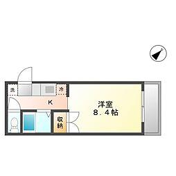 プレアール老松町I[4階]の間取り