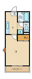 兵庫県姫路市飾磨区加茂の賃貸マンションの間取り
