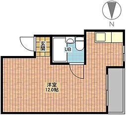 ル・クレアK[3階]の間取り