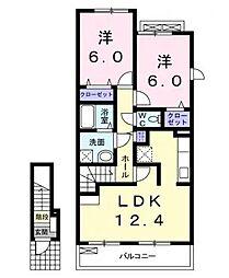 ウィンドフィール96A[2階]の間取り
