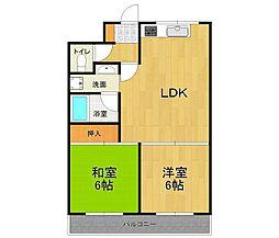 ソワ宝塚[2階]の間取り
