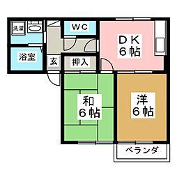 ヴィステリアA[1階]の間取り