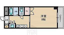 ラファイン江坂[407号室]の間取り