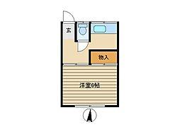 東京都荒川区荒川1丁目の賃貸アパートの間取り
