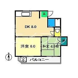 サンハイツ青柳[2階]の間取り