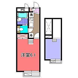 埼玉県さいたま市大宮区三橋1丁目の賃貸アパートの間取り