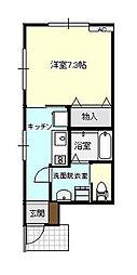 アバンティ太閤山[A101号室]の間取り
