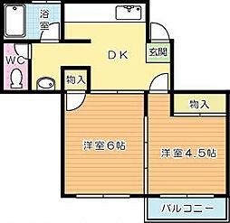 中央アパート[203号室]の外観