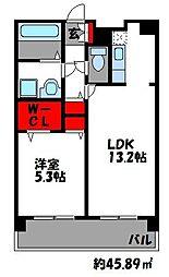 グレイスフルマンション舞松原[4階]の間取り