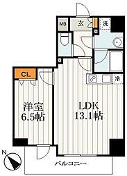 東京メトロ日比谷線 三ノ輪駅 徒歩12分の賃貸マンション 4階1LDKの間取り