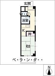 メゾン北郷A棟[1階]の間取り