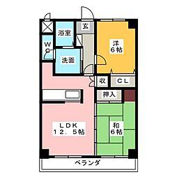ラフィネ小野[3階]の間取り