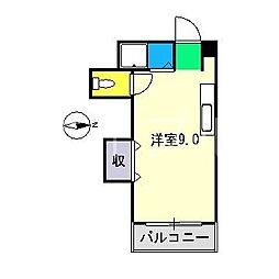 フェリオ澤田[4階]の間取り