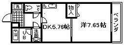 大阪府岸和田市西大路町の賃貸アパートの間取り
