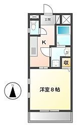 愛知県名古屋市中村区烏森町6丁目の賃貸マンションの間取り