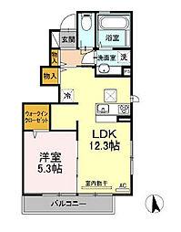 東京都世田谷区桜丘2丁目の賃貸アパートの間取り