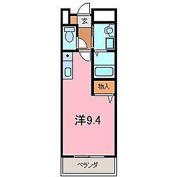 リフティー井上B[205号室]の間取り