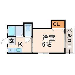 兵庫県西宮市中須佐町の賃貸アパートの間取り