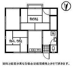 山下アパート[2号室]の間取り