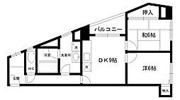 ASC甲子園[201号室]の間取り