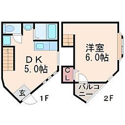 フラーリッシュ甲子園[2階]の間取り