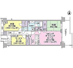 グランドメゾン東戸塚4番館[2階]の間取り