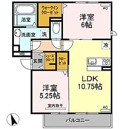 仮)D-room半田市大高町 A棟[201号室]の間取り