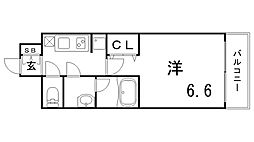 ファーストフィオーレ神戸湊町[1005号室]の間取り