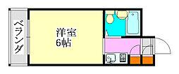 ウインド津田沼[306号室]の間取り