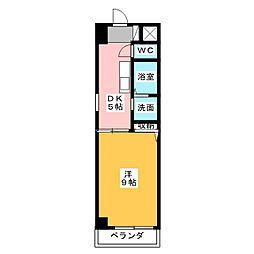 セレッソ千成[4階]の間取り
