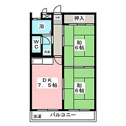 コーポモリタII[2階]の間取り