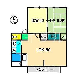 カーサ・あざみ野C棟[2階]の間取り