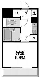 リーガル新大阪[2階]の間取り