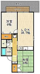 セジュール久宝寺[1階]の間取り