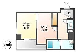K−Point Bldg(ケイポイントビル)[3階]の間取り