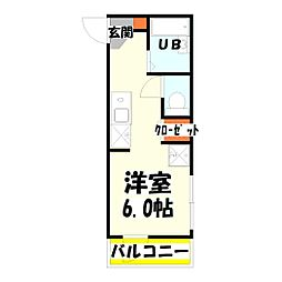 東京都足立区伊興4丁目の賃貸アパートの間取り